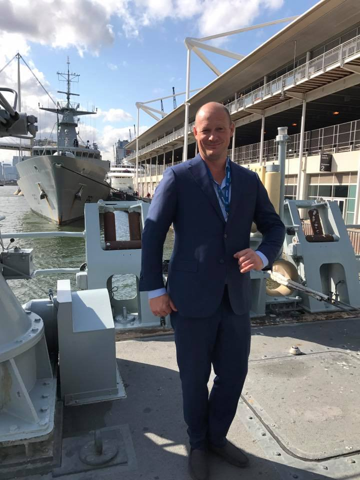 CEO at Elmatica Didrik Bech at DSEI 2017