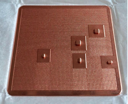 Copper backplate with coins