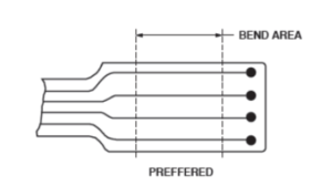 Minimum bend area on flex PCB